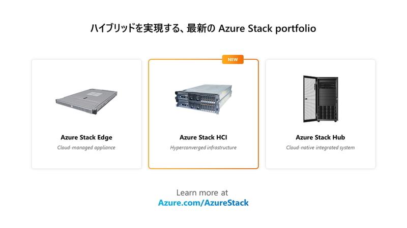 Azure Stackのポートフォリオ