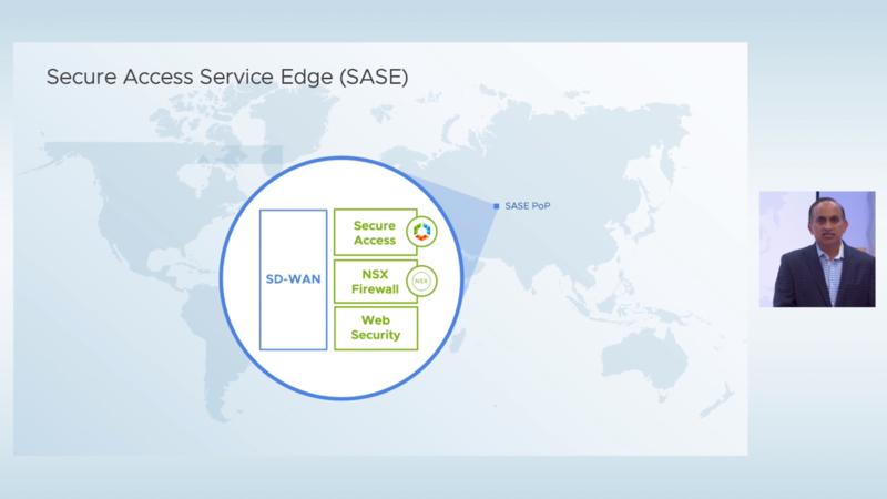 VMware SASEではSD-WANでPoPに接続して防御する
