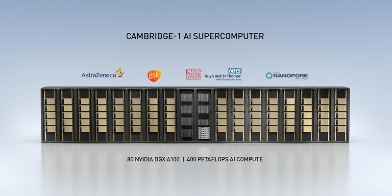 NVIDIAが英国に設置するスーパーコンピュータ「Cambridge-1」