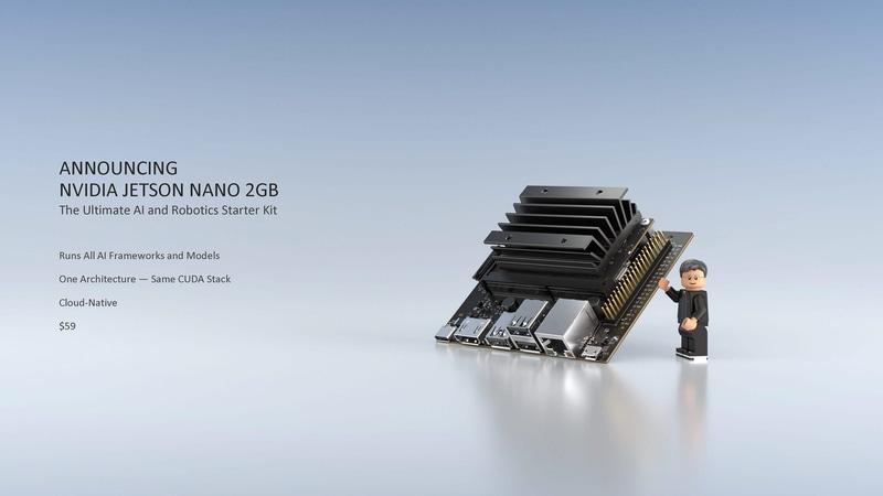 Jetson Nano 2GBは、59ドルと低価格に提供される