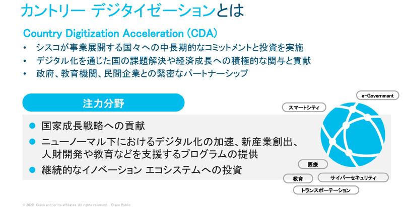 Ciscoのグローバルプログラムであるカントリーデジタイゼーション