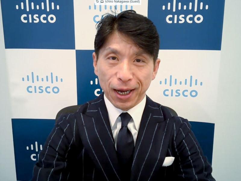 シスコ 副社長 情報通信産業事業統括の中川いち朗氏