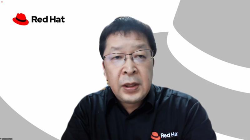 レッドハット株式会社の岡下浩明氏(製品統括・事業戦略 担当本部長)