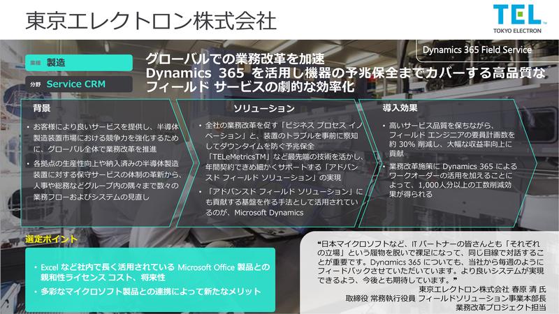 東京エレクトロン株式会社の事例