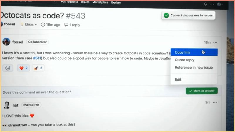 GitHub Discussionsが利用可能に