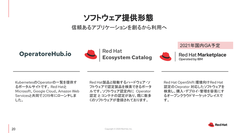 Red Hat Market Placeが2021値に国内GA予定