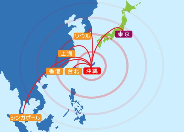 図2:沖縄県の地理的優位性