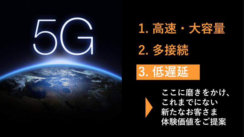 5Gの特徴のうち「低遅延」に磨きをかけるサービス