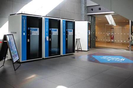 テレキューブWeb会議センターに設置されているテレキューブ(丸の内・新丸ビル)