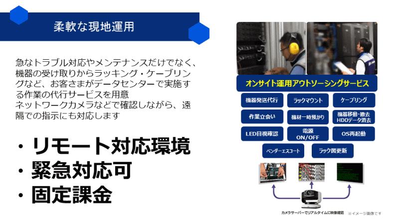 Webカメラで作業の確認もできるオンサイト運用アウトソーシングサービスを提供