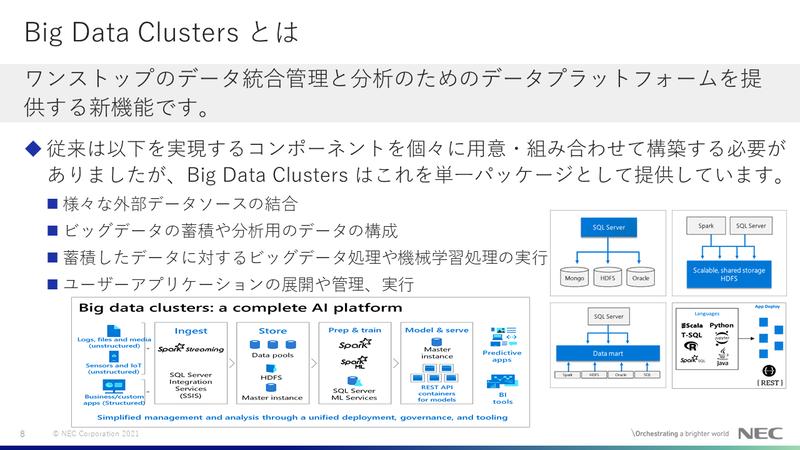 SQL Server 2019のメリット:Big Data Clusters