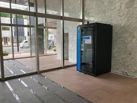 「ライオンズマンション横濱元町キャナリシア」共用部分に設置されたテレキューブの様子