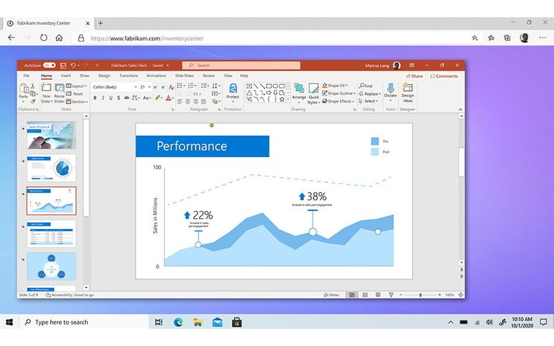 Windows 365では、クラウド上にあるクラウドPC(VDI)にWebブラウザなどを利用してアクセスできる(提供:Microsoft)