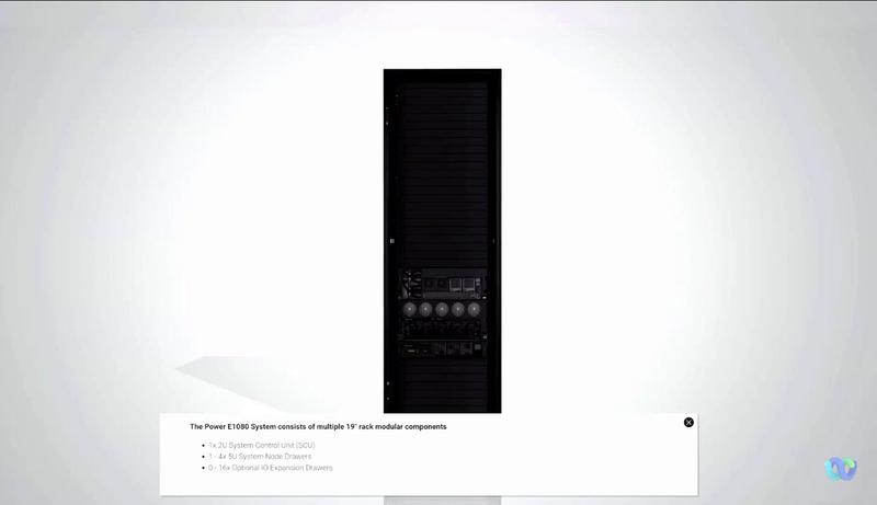 IBM Power E1080のラック前面