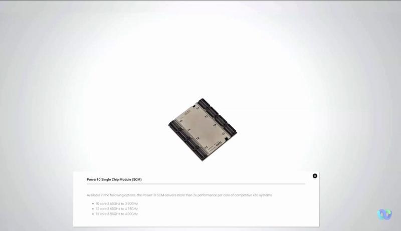 CPUモジュール。Power10が1つ入る