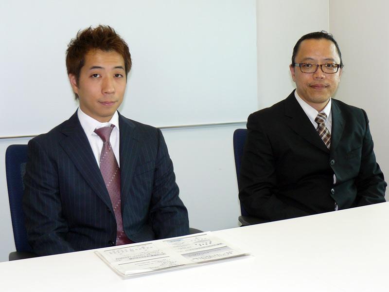 富士通研究所 クラウドコンピューティング研究センター 土屋哲主管研究員【右】と槌本裕一氏【左】