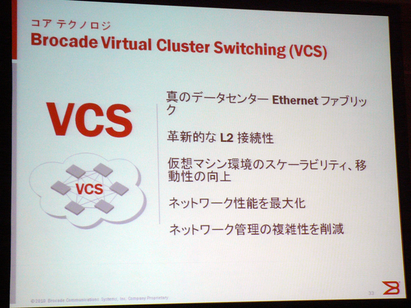 Brocade Virtual Cluster Switching