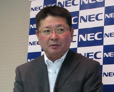 NEC執行役員中江靖之氏