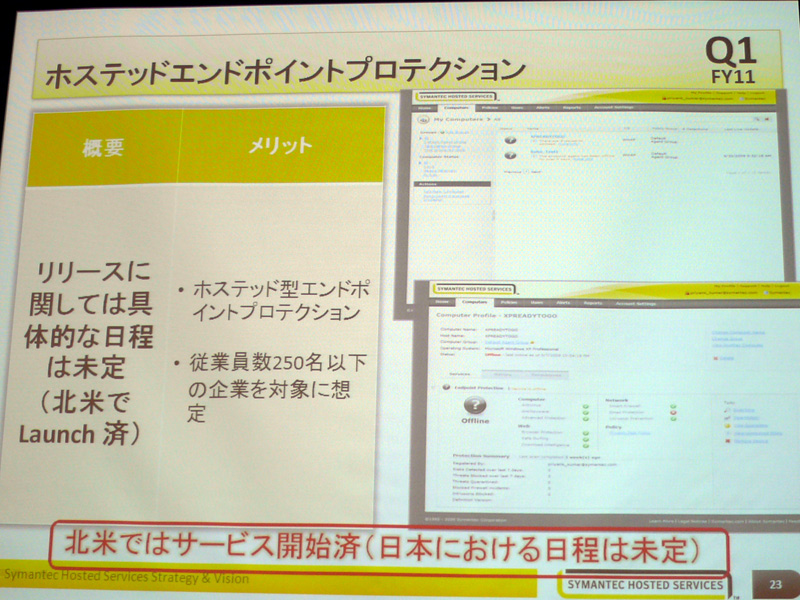 Hosted Endpoint Securityの特徴