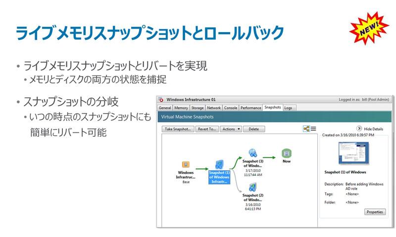 ライブメモリスナップショットでは、グラフィカルなツリーとして表示する