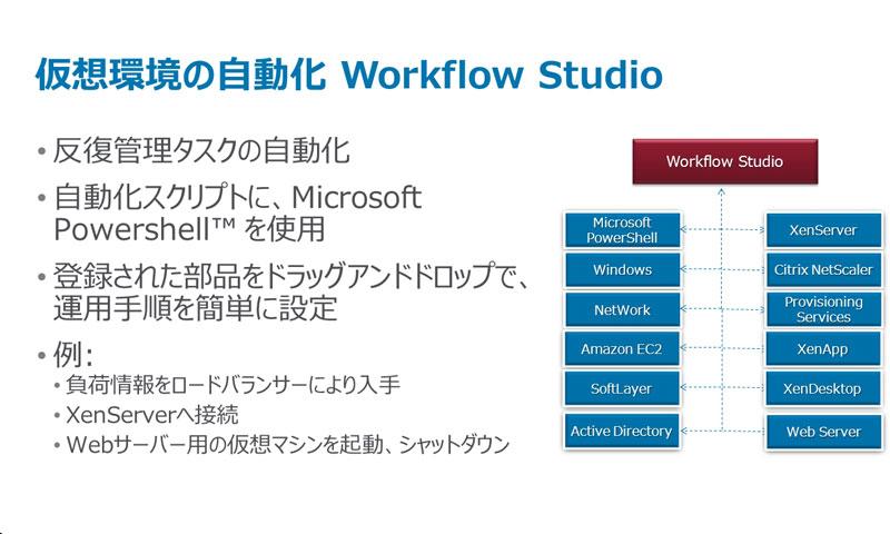 Workflow Studioでは、Powershellで複数のコマンドを組み合わせたタスクが構築できる