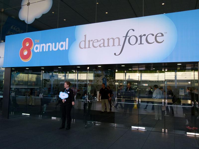 サンフランシスコのモスコーニセンターにおいて開催されている「Dreamforce 2010」