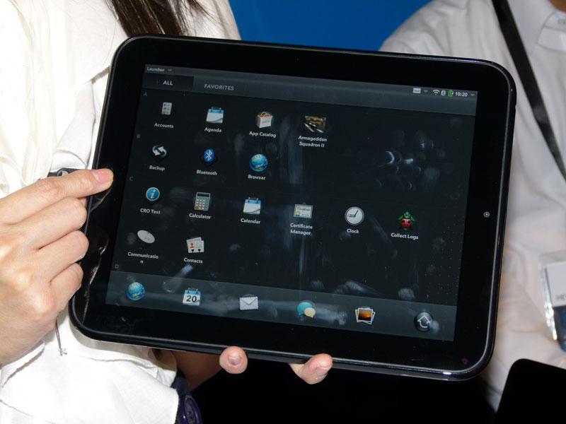 9.7型液晶ディスプレイを搭載したスレート端末「TouchPad」