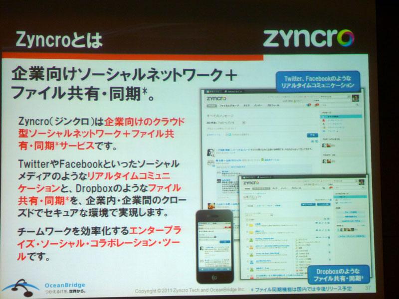 Zyncroの特長となるのがファイル共有と同期機能