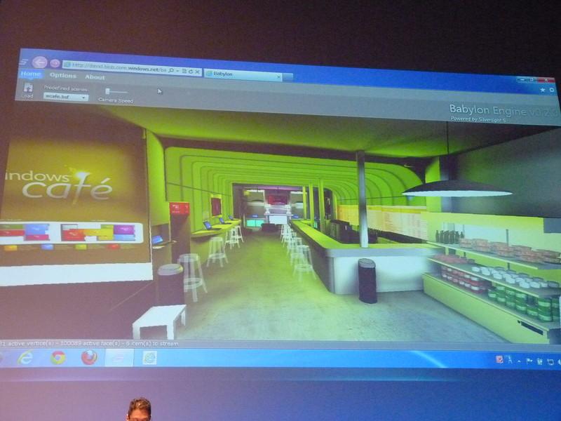 次バージョンでは3Dに対応するSilverlightを使ったデモ