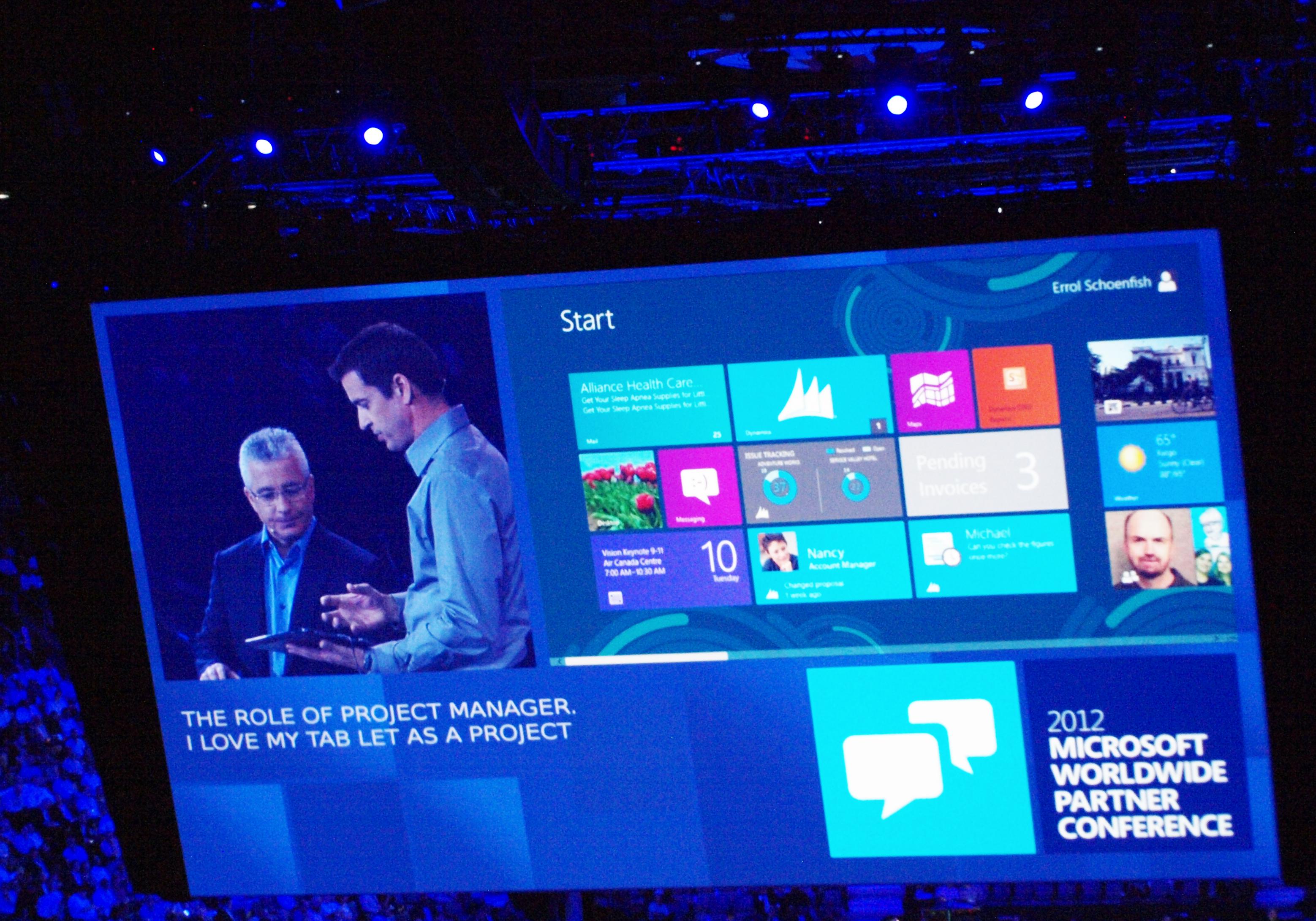 Dynamicsは10月末にリリース予定のWindows 8にももちろん対応
