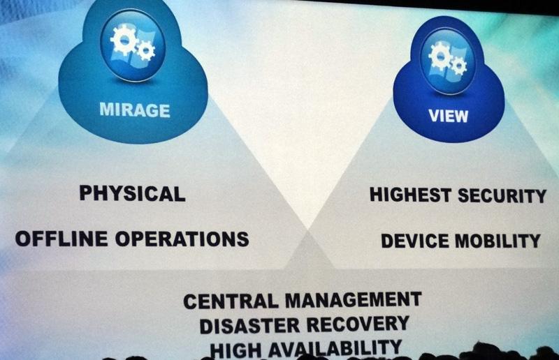 デスクトップ管理ソリューションの「Wanova Mirage」と「VMware View」