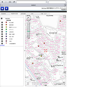 タブレット版の画面イメージ