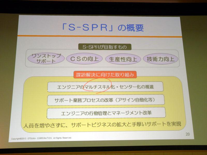 サポートエンジニアのリ・エンジニアリングシステム「S-SPR」の概要