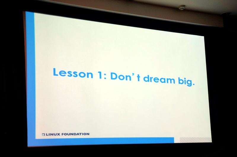 教訓1「Don't dream big」(大きな夢を持つな)
