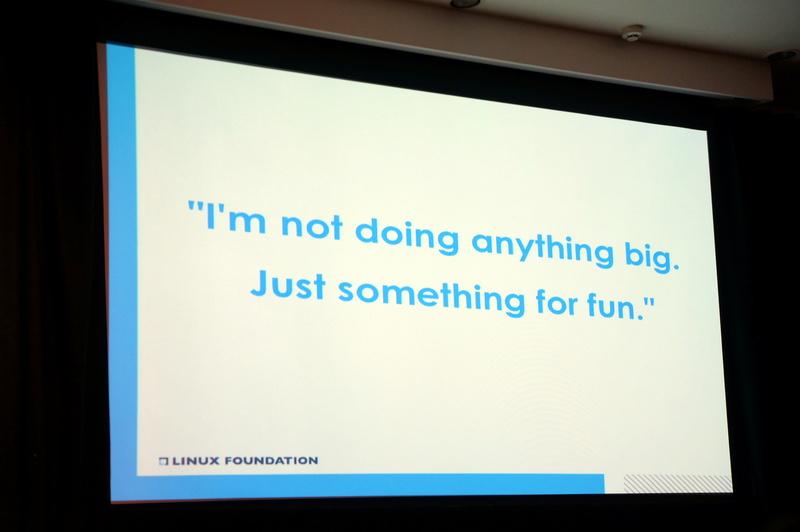 Linus Torvalds氏の言葉「Just something for fun」