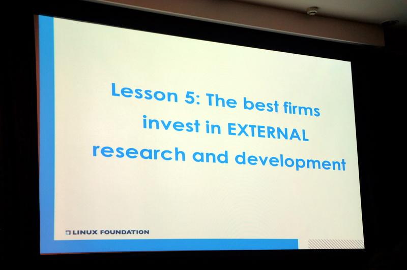 教訓5「The best firms invest in external research and development」(外部のアイデアを調べる)