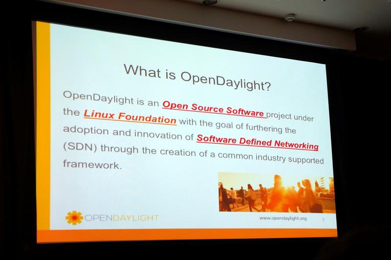 「OpenDaylightはSDNのオープンソフトウェアを開発するLinux Foundationのプロジェクト」