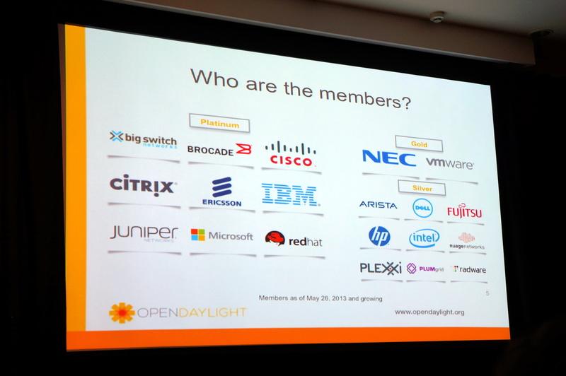 OpenDaylightプロジェクトの参加企業