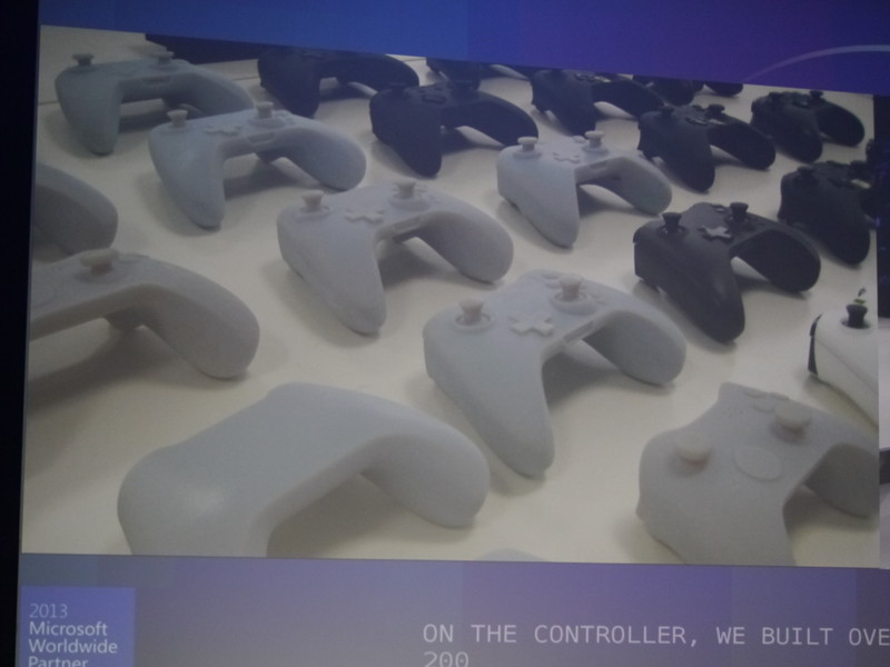 Xbox One向けゲームコントローラの試作品の数々