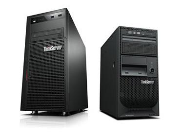ThinkServer TS440(左)とThinkServer TS140(右)