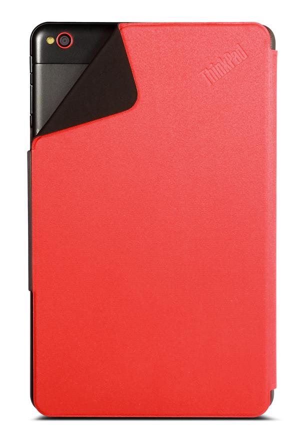 「ThinkPad 8 クイックショット・カバー」はカバーを装着したまま、背面カメラが利用できる(写真中央)