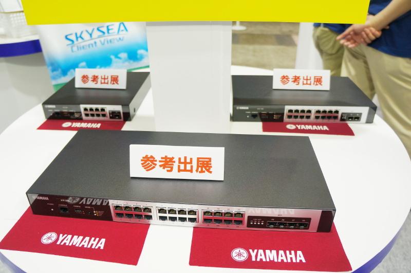 参考出品のL2スイッチ新機種(開発中)。8・16・24ポートの3種類