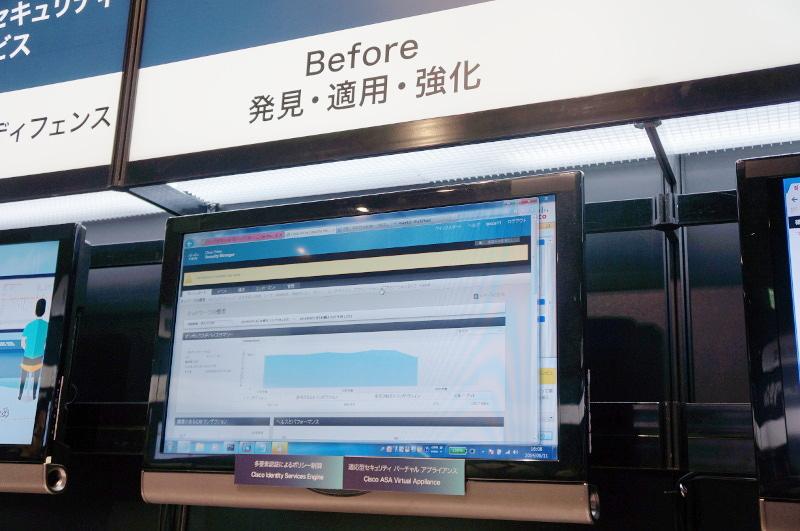 「Before」は、侵入させない対策。「Cisco ASA 5500-X」は、誰がどのようなアプリケーションを使うかといったポリシーを管理する次世代ファイアウォール