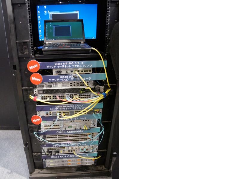サービス事業者向けネットワーク製品のラック