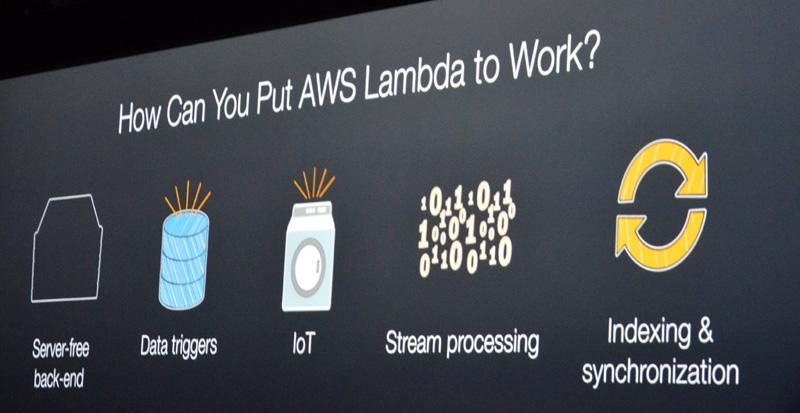 LambdaはIoTやストリーミング、サーバフリーなバックエンドシステムでの活用が期待される