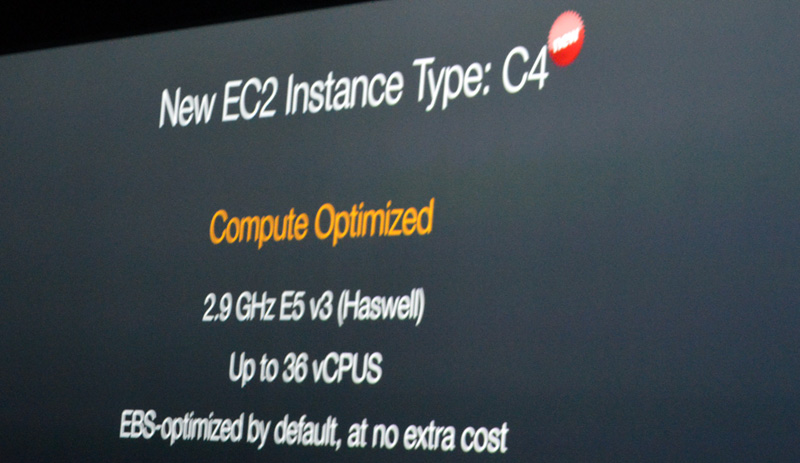新EC2インスタンス「C4」のためにIntelはHaswellベースのカスタムCPUを提供した