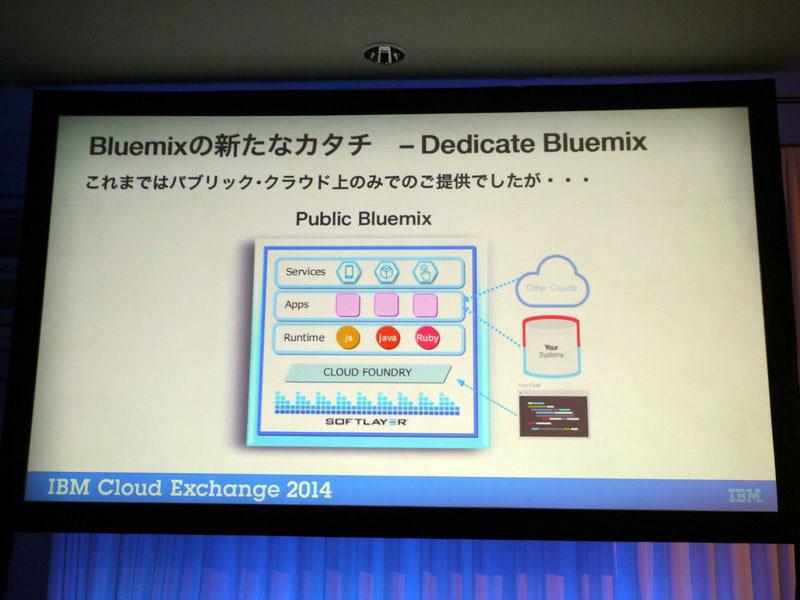 専用エリアで提供するBluemix、「Dedicate Bluemix」を提供する