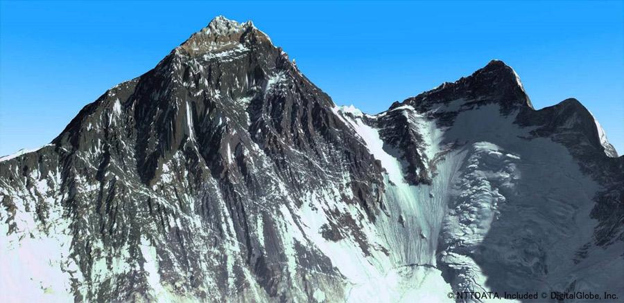2m解像度高精細版3D地図(エベレスト)