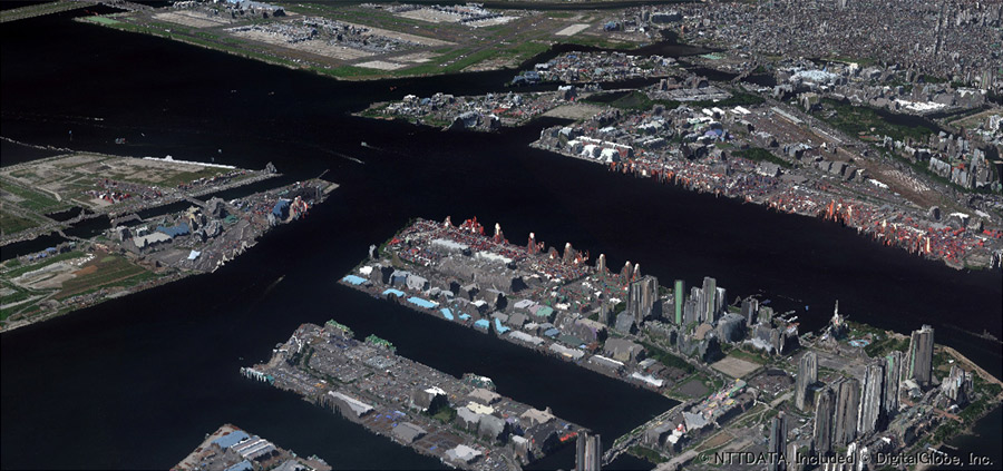 2m解像度高精細版3D地図(東京)