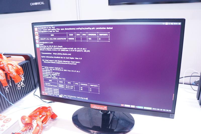 コンテナ型仮想化技術「LXD」のデモ。1つのコンテナを実サーバーのように動かし、ライブマイグレーションにも対応する